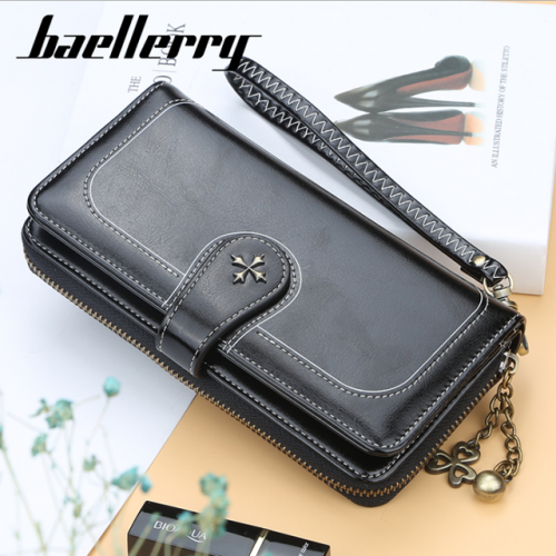New four-leaf clover multi-function lady's purse and card bag fashionable buckle Korean mobile phone bag