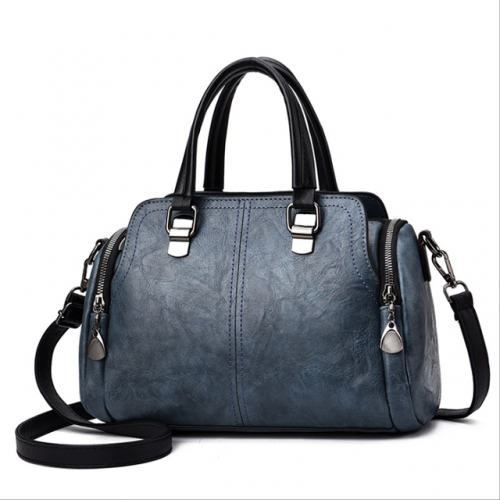 New fashion lady's handbag with large capacity soft leather single shoulder crossbody bag