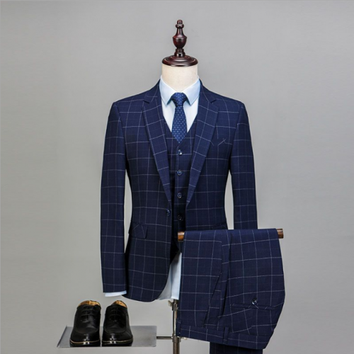 New Korean slim suit suit men's wedding dress professional casual high-end suit
