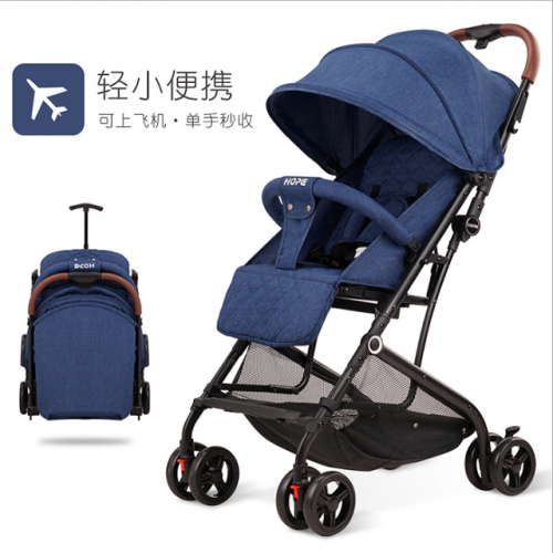 Pram stroller can be used for sitting or lying