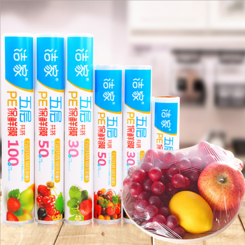 Disposable household kitchen refrigerator microwave oven PE plastic wrap for fruits and vegetables
