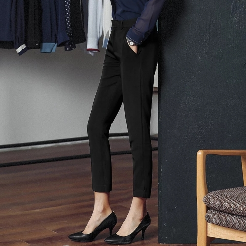 New female style casual nine minutes of pants professional pants show skinny legs straight pants suit pants