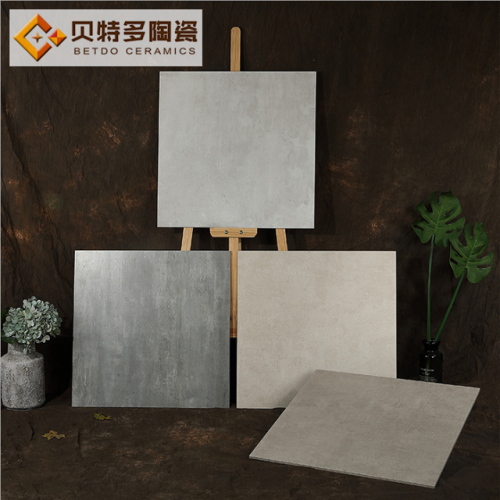 Foshan ceramic tile 600-600 simple floor tile kitchen and bathroom wall brick restaurant anti-skid antique cement tile