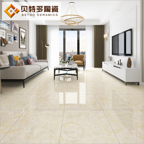 Full glazed floor tile 600 ceramic tile living room exhibition hall non-skid floor tile high light imitation marble tile