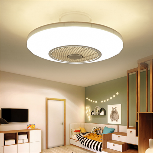 Direct sales of circular children's room lamps and lanterns modern simple study fan ceiling lamp living room bedroom lamp