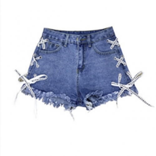 Summer Women's Denim shorts for Ladies ripped jeans big size