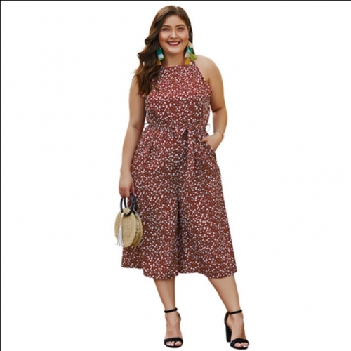 Women jumpsuits Summer Fat lady overalls 4XL