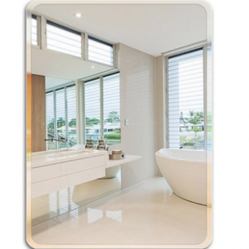 Bathroom mirror no punching, no frame bathroom mirror wall hanging mirror wall makeup mirror
