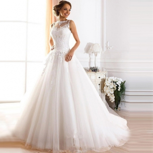 Korean version of smear breast lace bridal dress wedding dress pregnant women can be customized