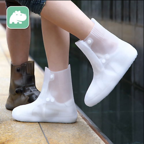 Men's and women's foldable portable waterproof rain shoes non-skid transparent non-disposable rain boots water shoes