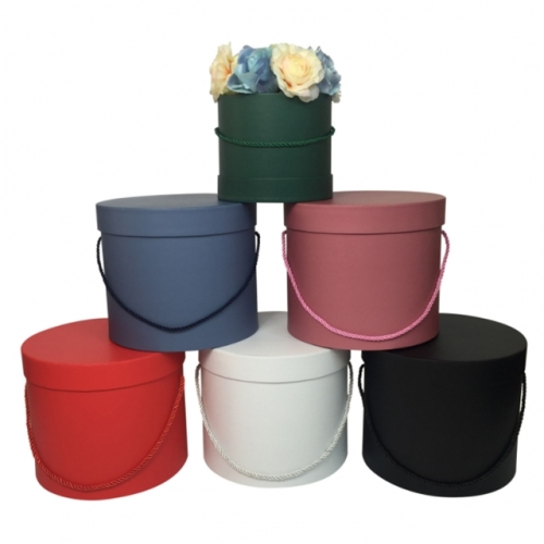 Flowers, gift boxes, flower boxes, holding buckets, hand jacquard boxes, round flower boxes, three-piece sets