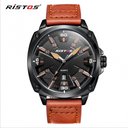 RISTOS Rissos men's outdoor sports waterproof leisure calendar large dial quartz watch