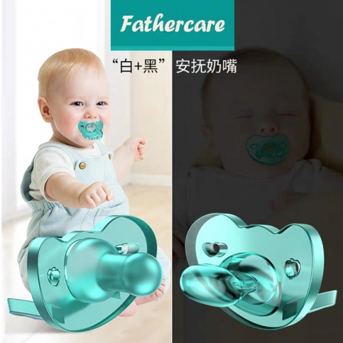 Baby silicone soothes pacifier sleeping super soft breast-like newborn baby comforts Douyin with baby artifact nipple