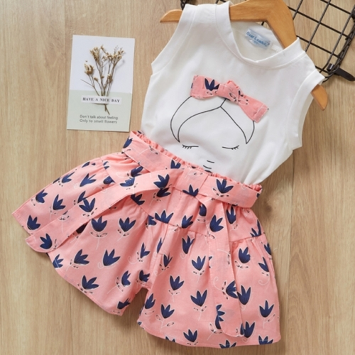T shirt +shorts pants baby girls suit summer clothing sets