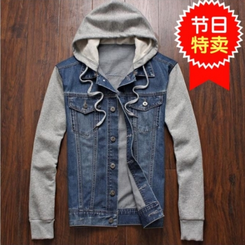 Leisure men's denim jackets coat