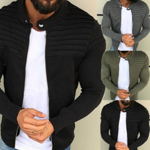Fashion men jackets solid coats