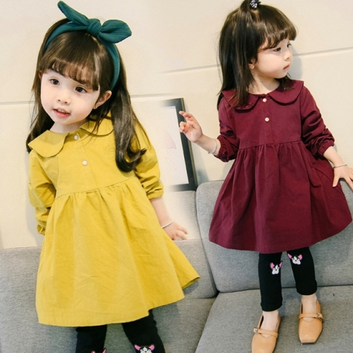 Spring and Autumn Little Girls Fashion dress