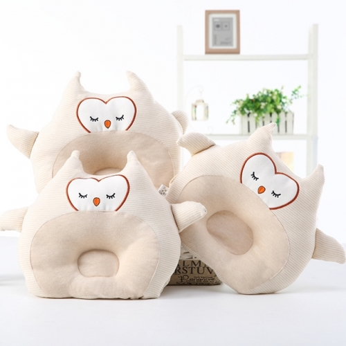 Baby pillow neonatal colored cotton pillow anti-deviation head ventilation