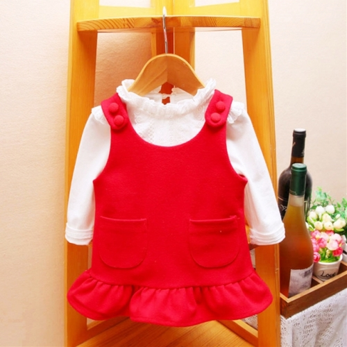 Spring and autumn baby vest skirt baby dress