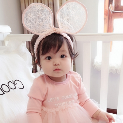 Korean version exaggerated rabbit ear girl hairband