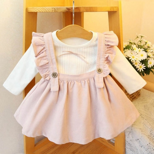 Spring Korean version of baby two-piece suit strap skirt