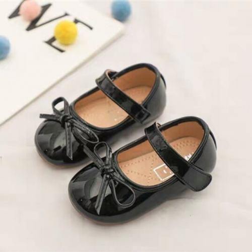 Spring and Autumn New Girl soft sole Anti-skid single Leather shoes