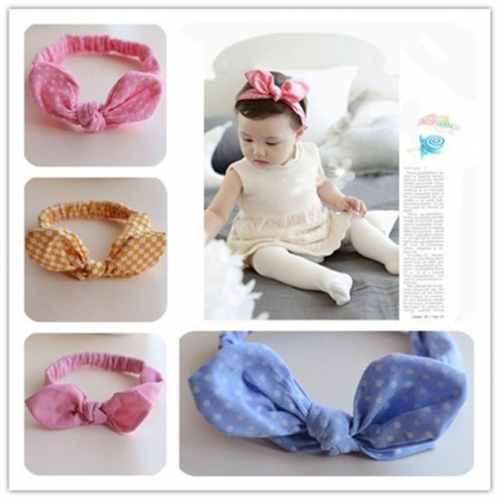 Baby rabbit ear cloth hairband