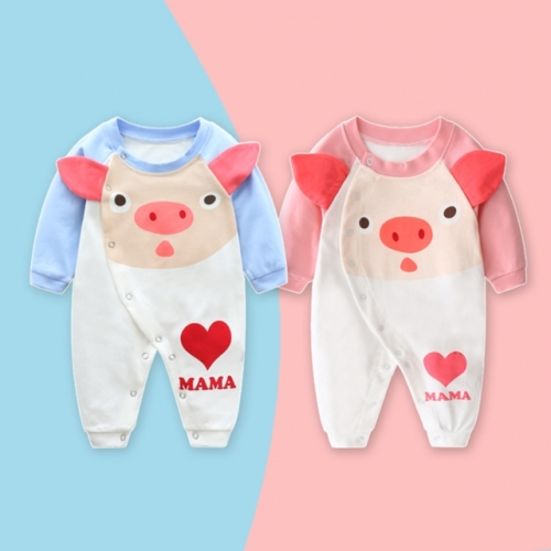 Autumn and winter cotton baby long-sleeved jumpsuit