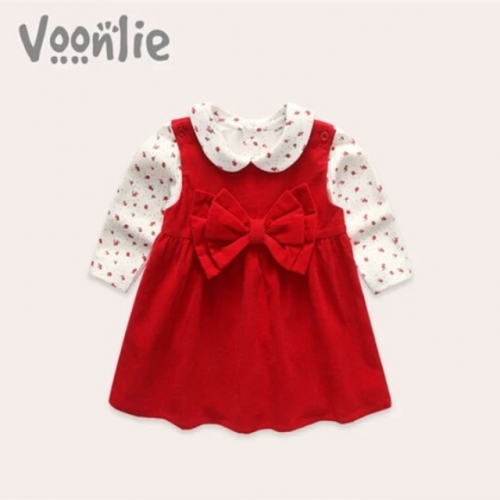 Autumn and winter baby girl dress