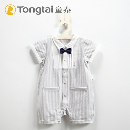 Summer thin, baby, cotton short-sleeved jumpsuit