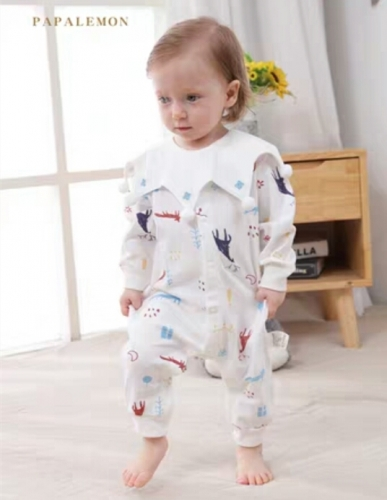 Baby cotton long-sleeved jumpsuit