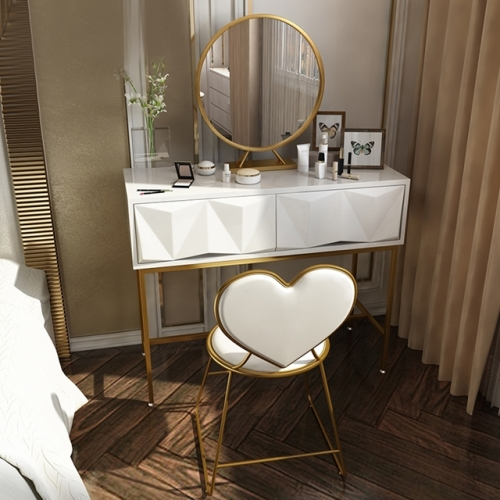 Modern simple bedroom small iron dresser cosmetic table