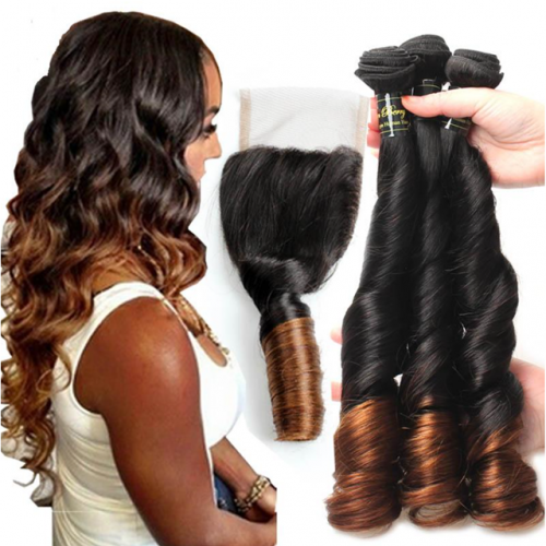 T1b/30 Ombre Brazilian Loose Wave Human Hair
