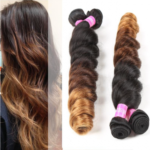100g Ombre hair loose wave 1b/4/27 brazilian Human Hair