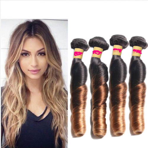 unprocessed human virgin Hair extension T1B427 spring wave