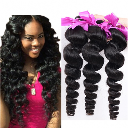 unprocessed Indian virgin Hair extension 8A loose wave
