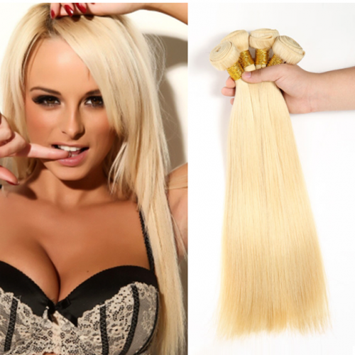 613# Blonde Straight Virgin Hair Bundles