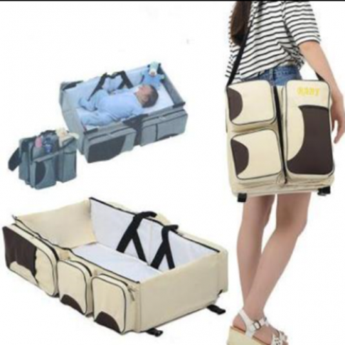 Schoolbag crib crib convenient to carry the middle bed newborn sleeping basin can be folded for easy portable.