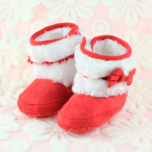0-1years winter plush warm baby boots snow boots