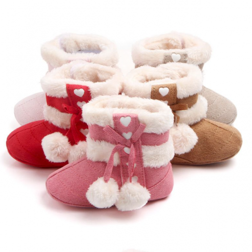 Baby soft-soled cotton shoes in spring, autumn and winter
