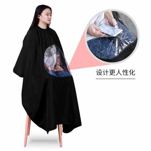 Barber shop, barber shop, hair salon, custom-made hair-free, high-grade hairdressing cloth, Douyin style, professional haircut and cloth trend.