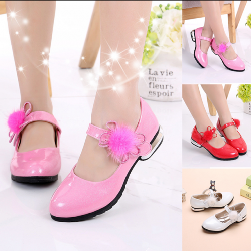 Spring and Autumn new Korean version of small high-heeled and medium-sized children's shoes