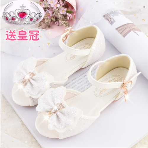 Girls' fashionable crystal sandals in summer