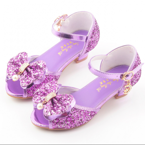 New fashionable girls' bow-tie crystal sandals in summer