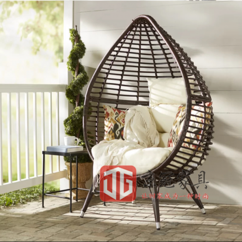 Outdoor courtyard leisure balcony indoor bird's nest chair children's photography prop shed swing chair hanging chair round rattan furniture