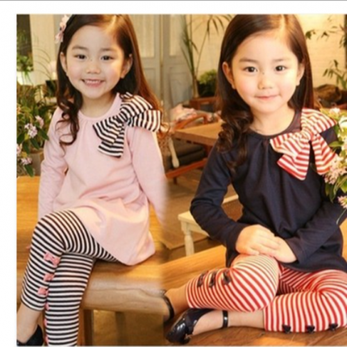 2018 new girls' spring and autumn long-sleeved suit 3-4- 5- 6-year-old spring girls' casual clothes children's clothes