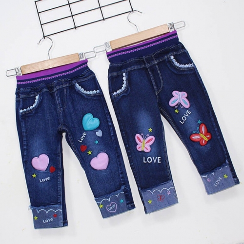 2019 autumn and winter stretch pants 3mur4 girls' trousers children's cotton wool