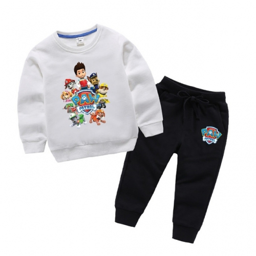 Children's suit new spring and autumn cotton sweaters boys and girls foreign style long-sleeved trousers Wang team two sets