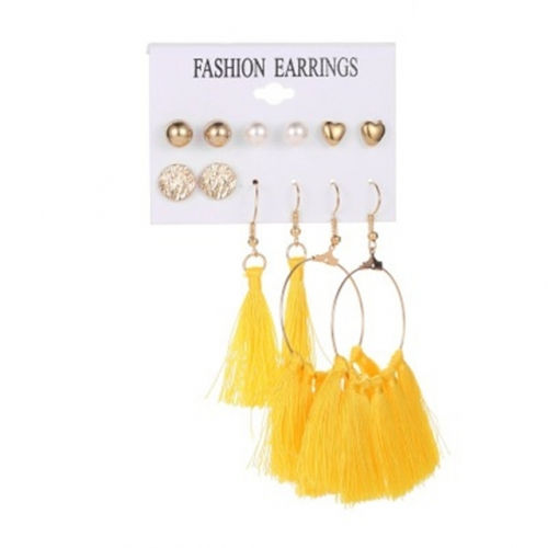 new style tassel earrings women elegant temperament ear stud