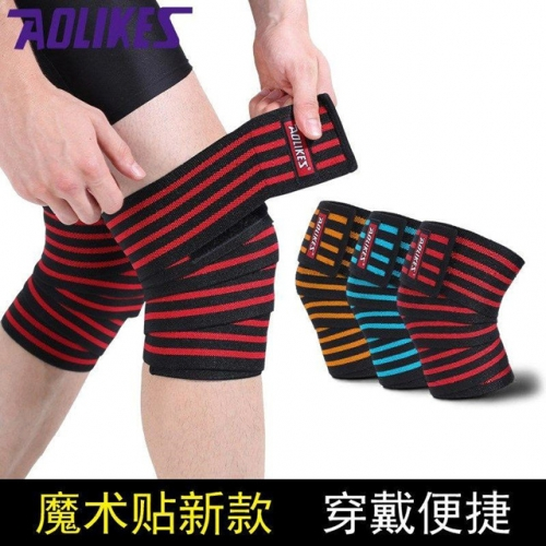 Deep squat leg binding knee protection knee thigh strength lifting winding belt sports protective gear men's fitness weightlifting squatting